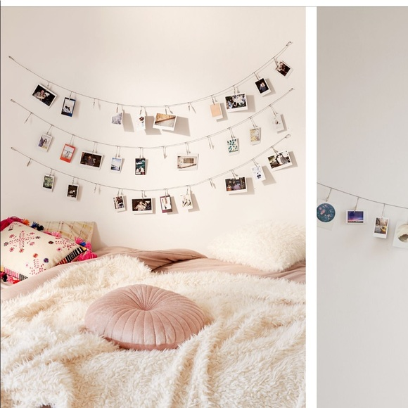Urban Outfitters Metal Photo Clips Banner